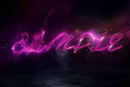 Create Deep Space Text Effect in Photoshop