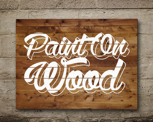 Beautiful Painted on Wood Text Effect in Photoshop