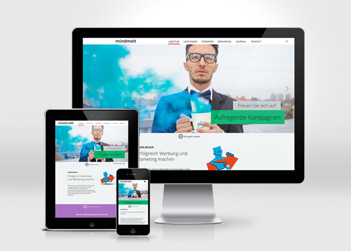 Werbeagentur mindmelt #flatdesign #website