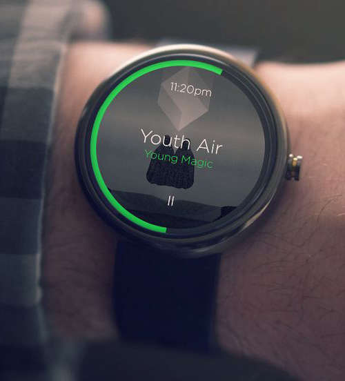Android Wear Moto 360 Watch UI Design Concept ...