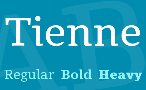 Tienne Font Family