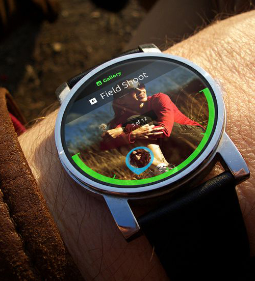 Android Wear Photo Gallery UI