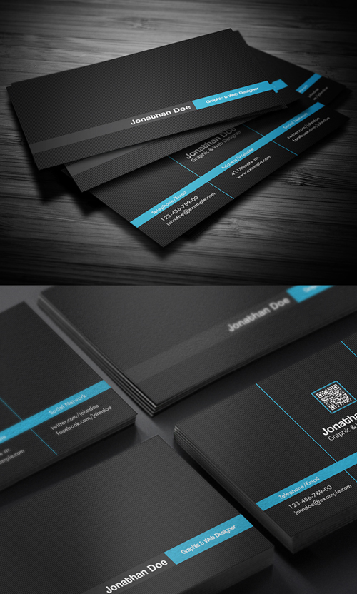 Business cards psd templates design graphic design junction creative business card cheaphphosting Gallery