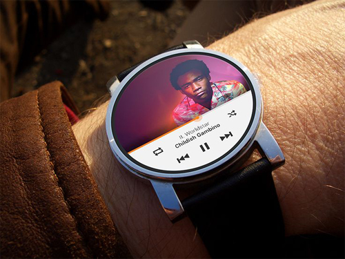 Google Play music app on Android Wear