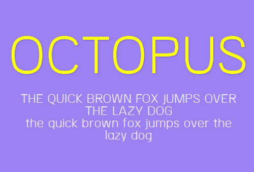 OCTOPUS Free Font