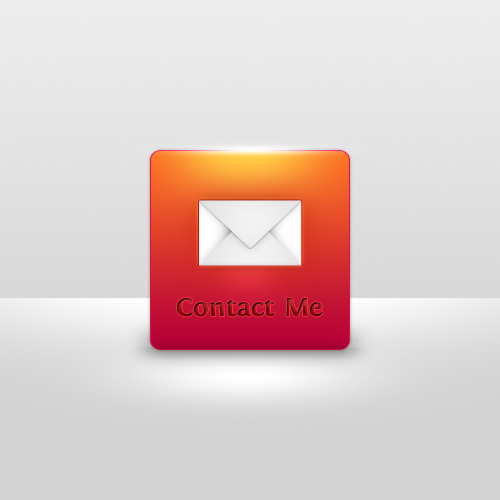 Design a Delicious Contact Me UI Button in Photoshop
