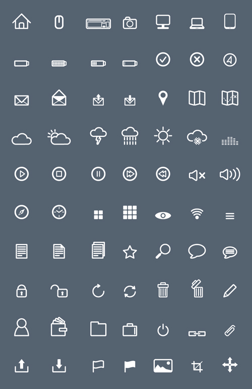 Free Flat Icons Pack (80 Icons)