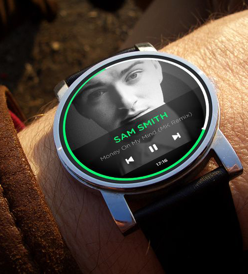 Android Wear Music Watch