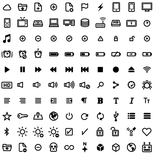 Free UI Vector Icon Set