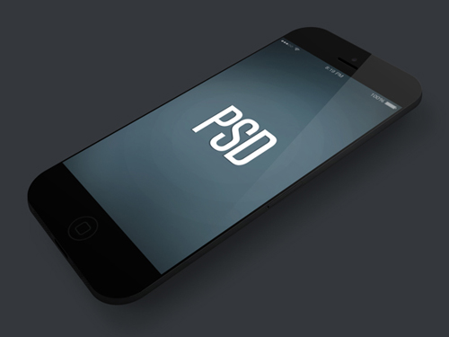 iPhone 5S Vector Mockup Template