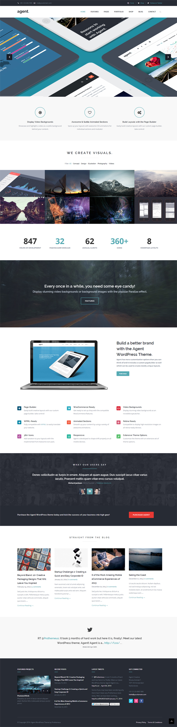 Agent - A Creative Multi-Purpose WordPress Theme