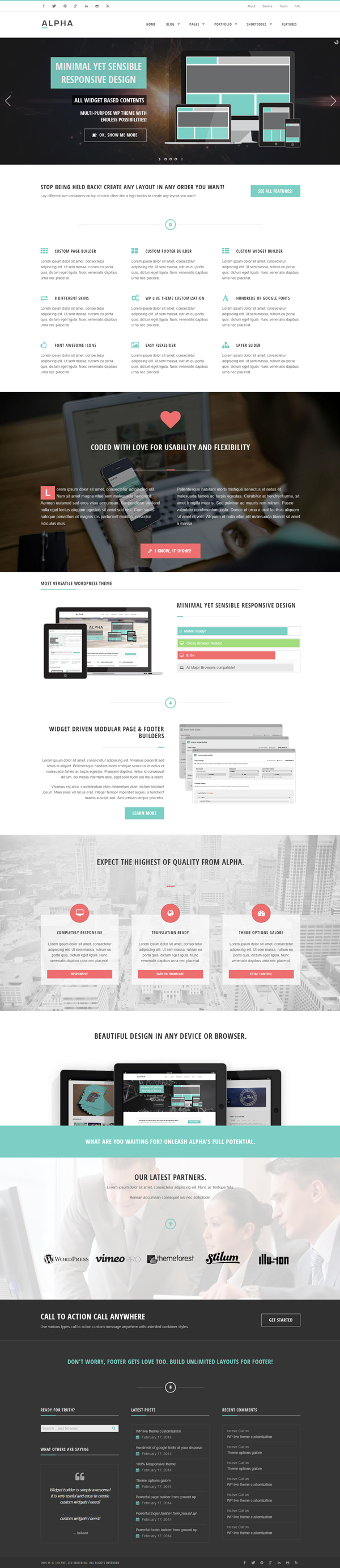 Alpha - Flexible Ultra Responsive WordPress Theme