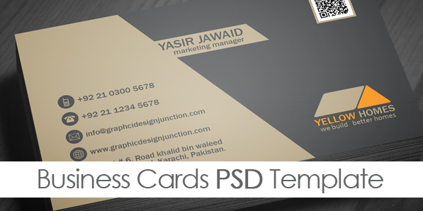 Free Real Estate Business Card Template PSD Freebies Graphic - Free template for business cards