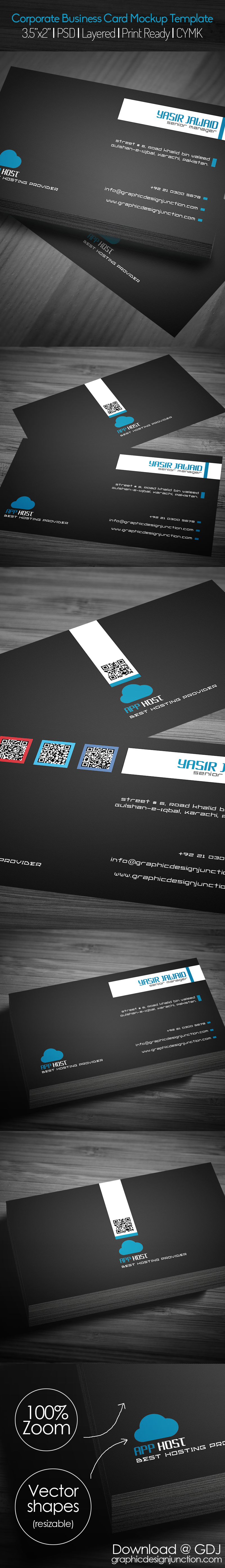 free corporate business card mockup psd freebies