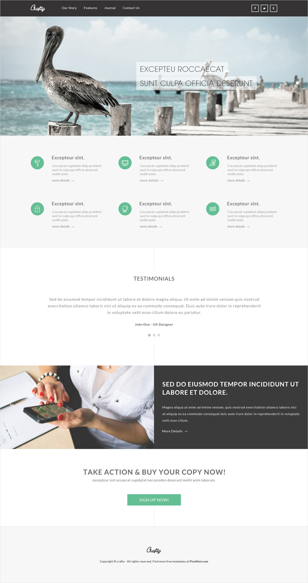 Crafty – Free PSD Template