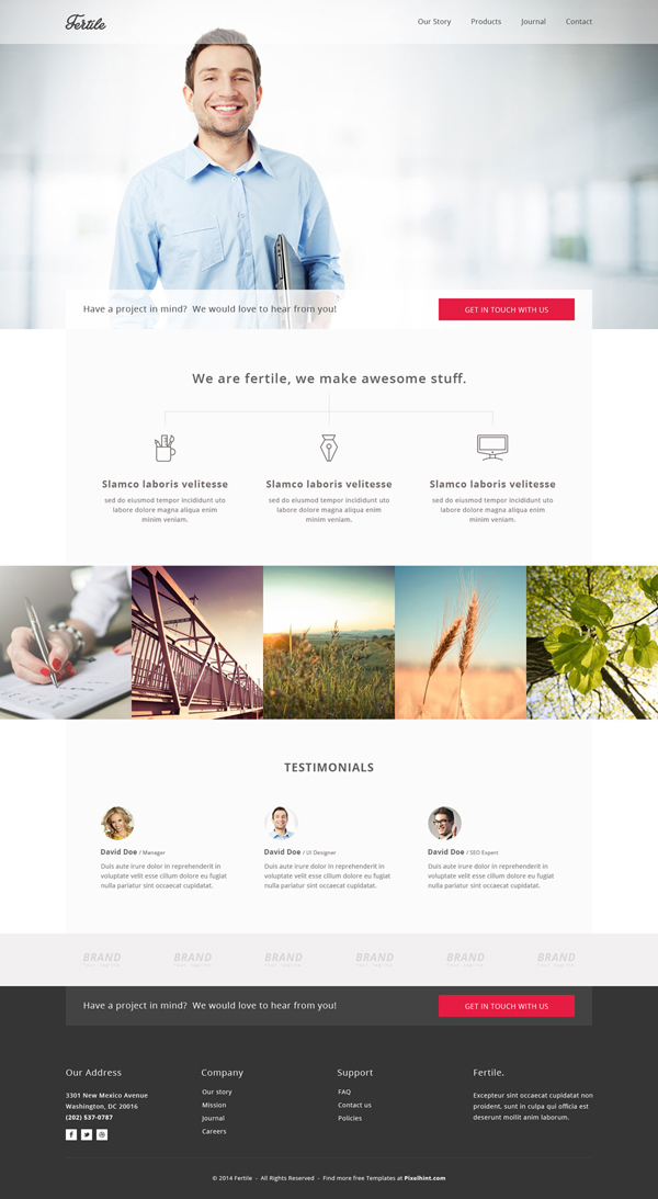 Fertile – PSD Portfolio Template