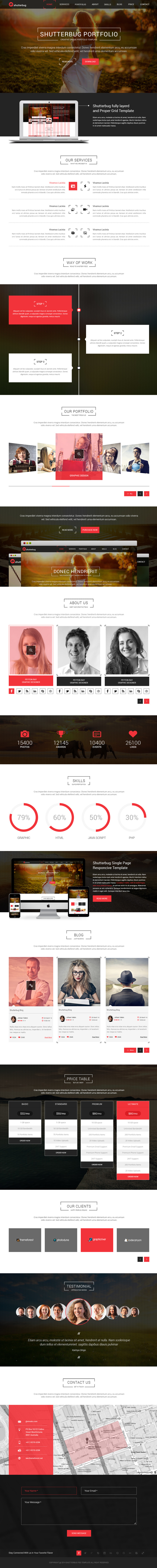 Shutterbug One page Multipurpose PSD Template