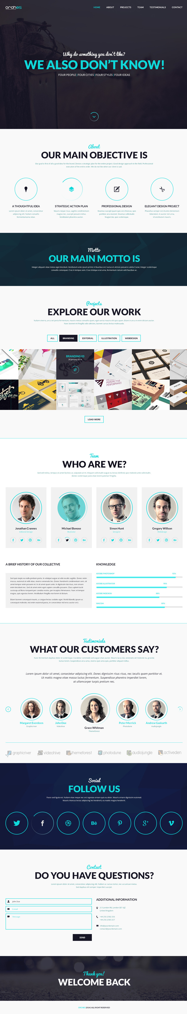 Orches PSD Theme - One Page HTML5 Template