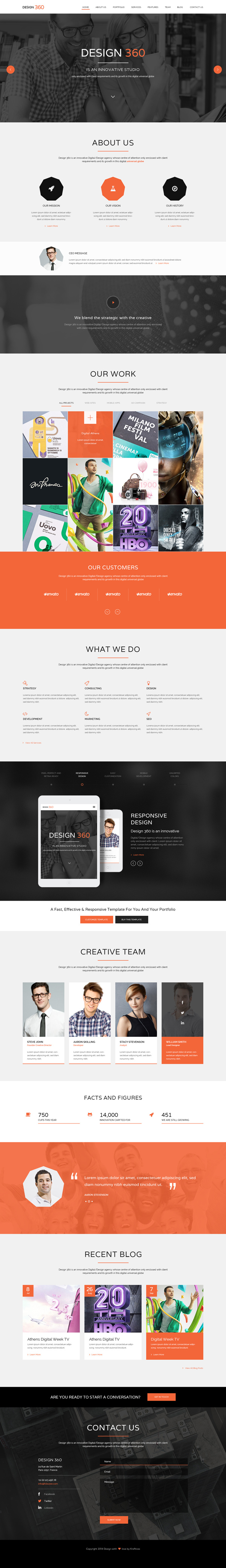 Design 360 - Single Page PSD HTML5 Template
