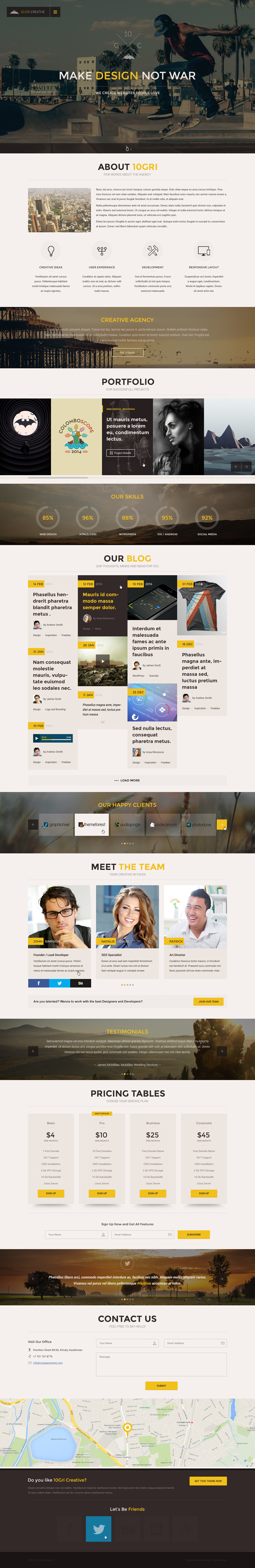 10GriCreative - OnePage PSD HTML5 Theme