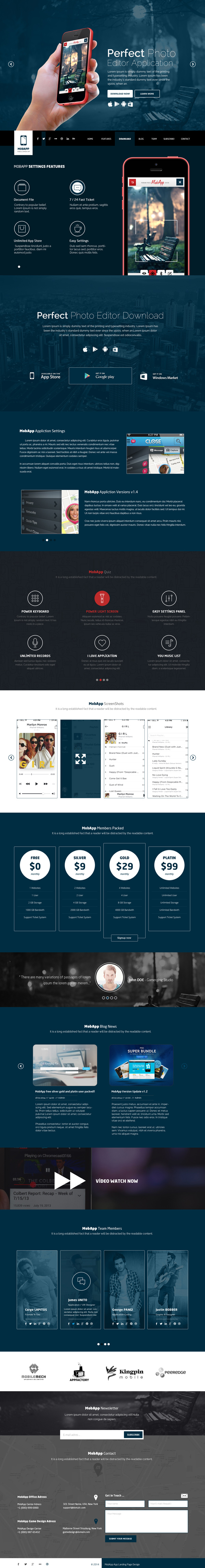 MobApp - One Page App HTML5 Landing Page