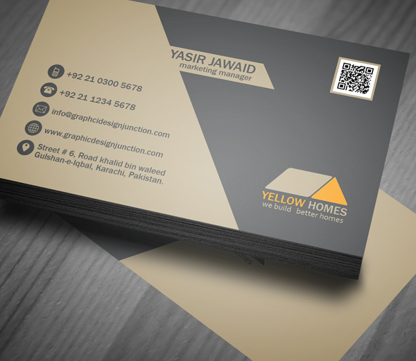 Free Real Estate Business Card Template PSD Freebies Graphic - Business card templates