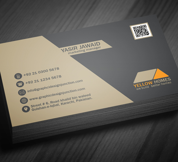 Free Real Estate Business Card Template PSD Freebies Graphic - Real estate business card template