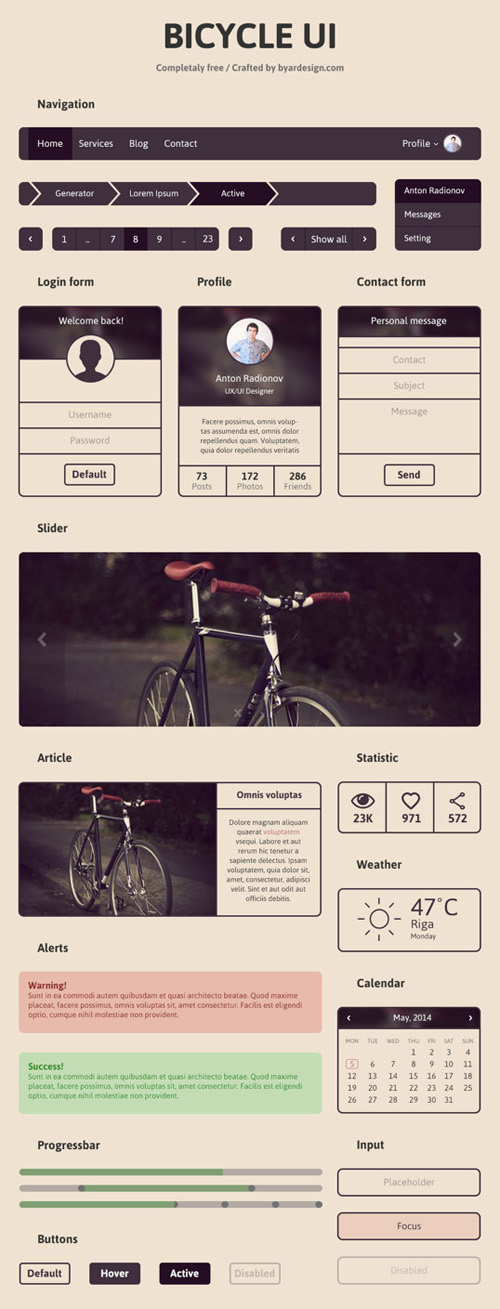 BICYCLE UI (Minimal UI Kit)
