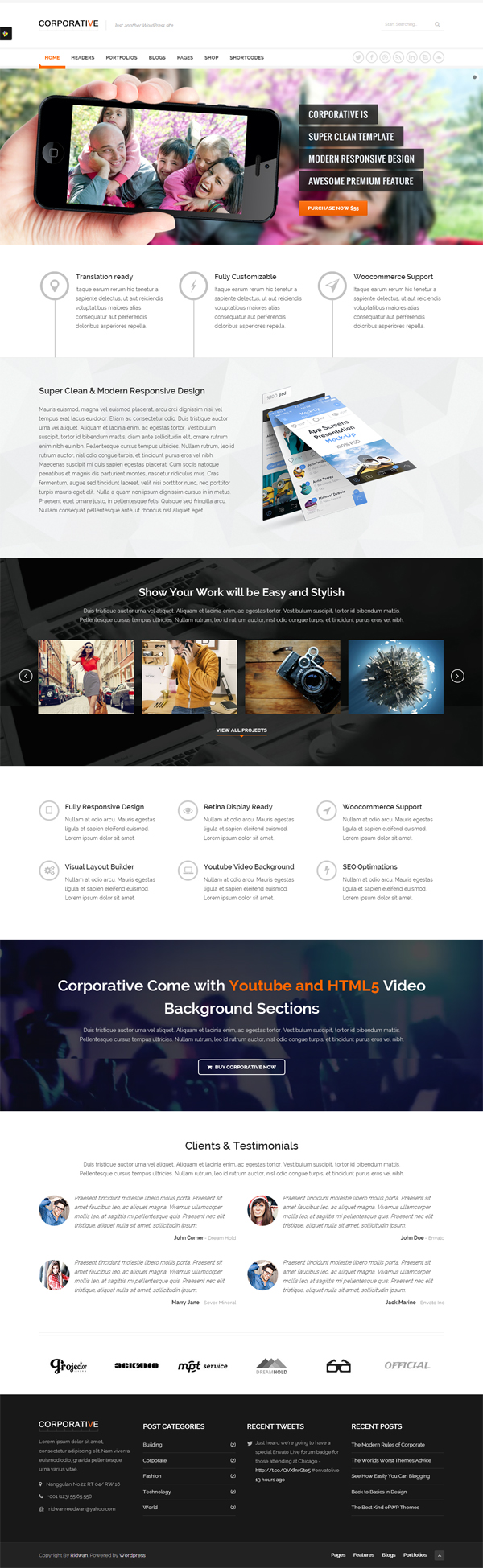 Corporative - Multipurpose WordPress Theme