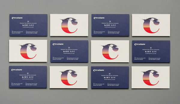 Creature Identity Branding Business Card