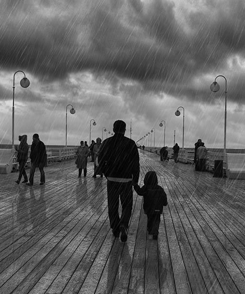 How to Add a Dramatic Rain to a Photo in Photoshop Tutorial