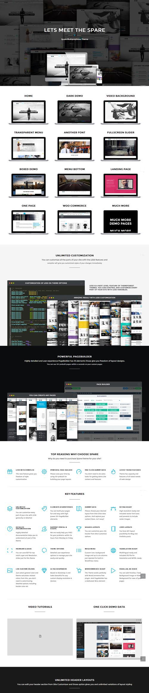 Spare - Ultimate MultiPurpose LESS Theme