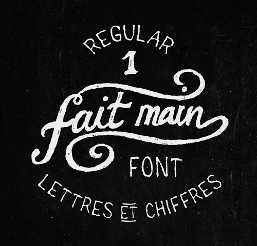 Regular 1 Fait Main free fonts