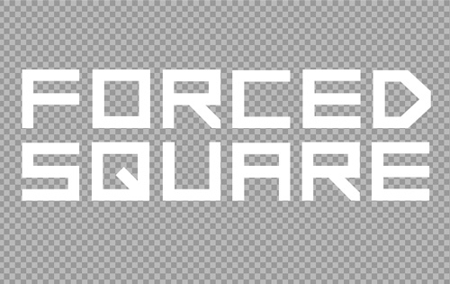 Forced Square free fonts