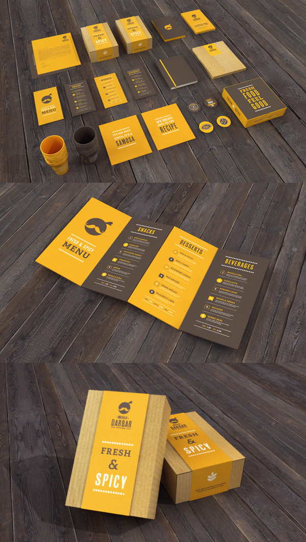 Restaurant Branding Stationery