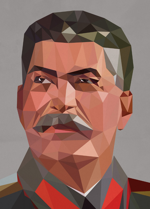 Low-Poly Portrait Illustrations for Inspiration - 21