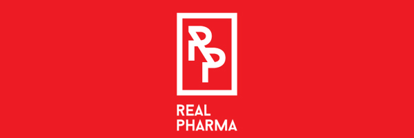 Real Pharma Branding Logo