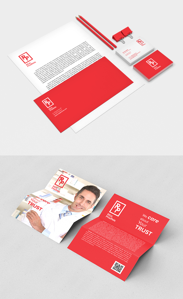 Real Pharma Branding Stationery