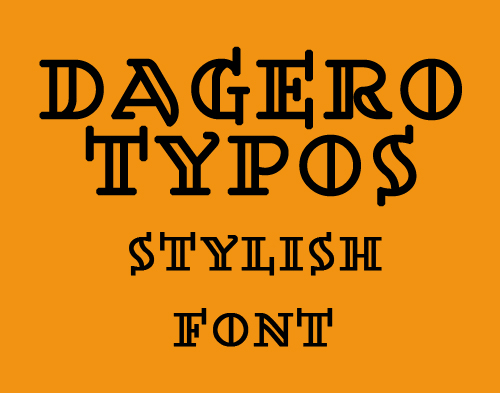 Dagerotypos free fonts