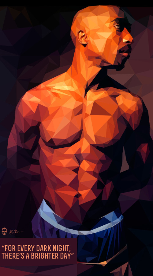 Low-Poly Portrait Illustrations for Inspiration - 25