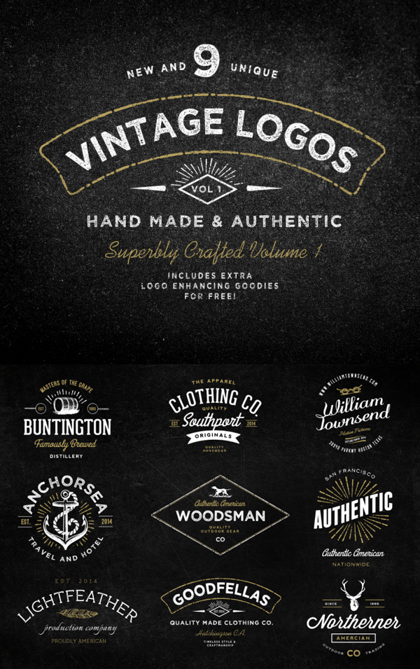 Vintage Logo Bundle and Extras