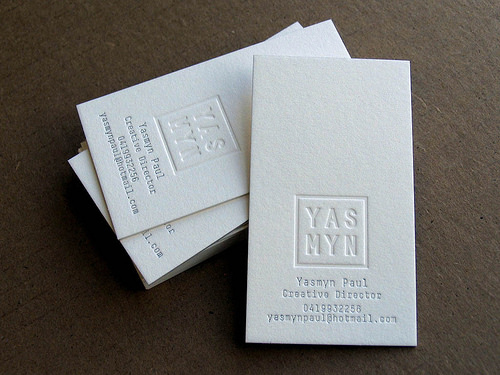 Letterpress Business Cards Design Examples | Design | Graphic