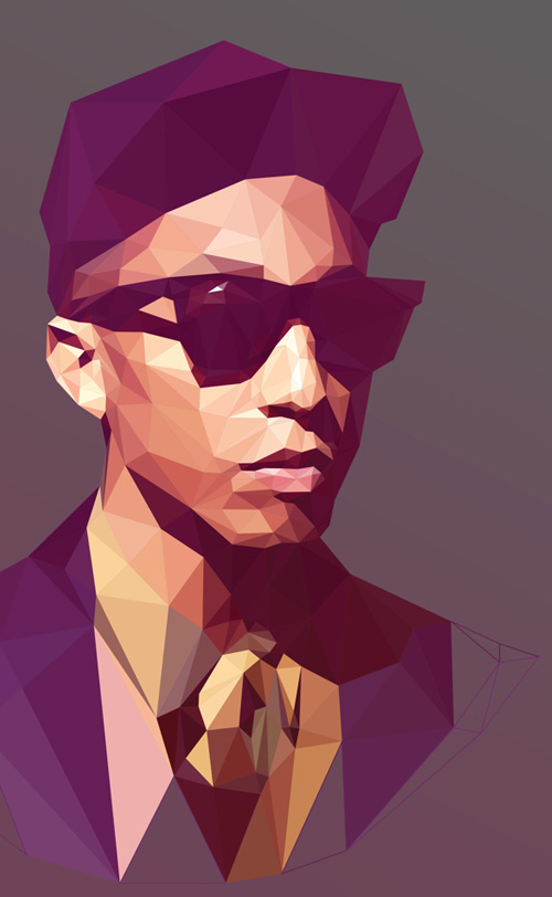 Low-Poly Portrait Illustrations for Inspiration - 4