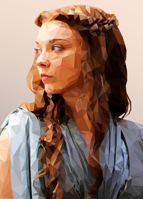 Low-Poly Portrait Illustrations for Inspiration - 6