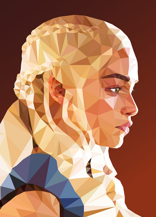 Low-Poly Portrait Illustrations for Inspiration - 9