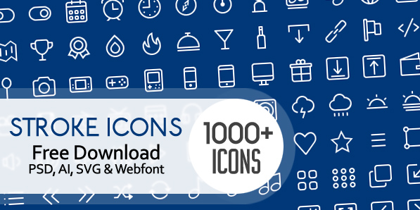 1000+ Free Outline Stroke Icons For Designers