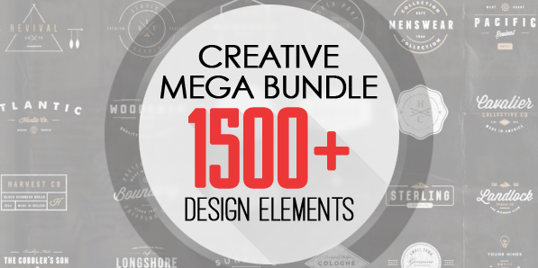 Most Creative Mega Bundle with 1500+ Design Elements