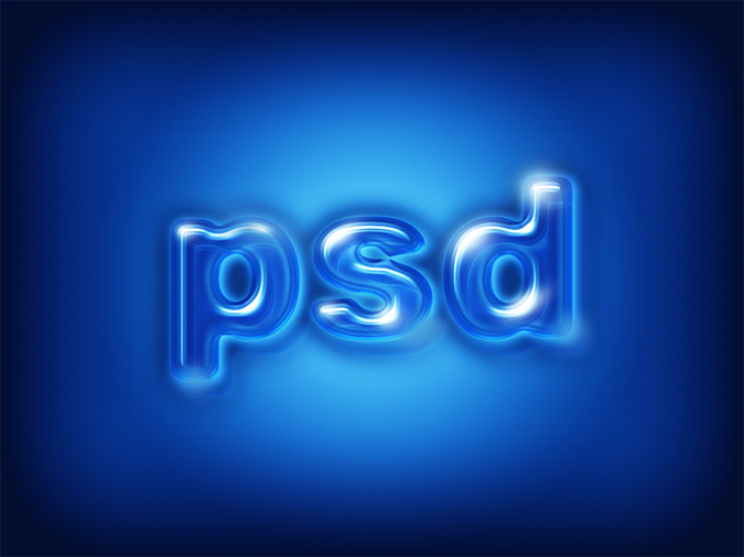How Create Glossy Plastic Text Effect in Photoshop Tutorial