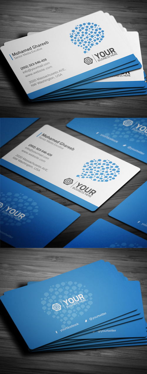 Creative Social Media Business Card