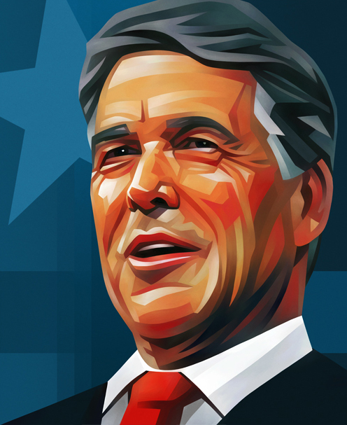 Rick Perry Portrait Illustration